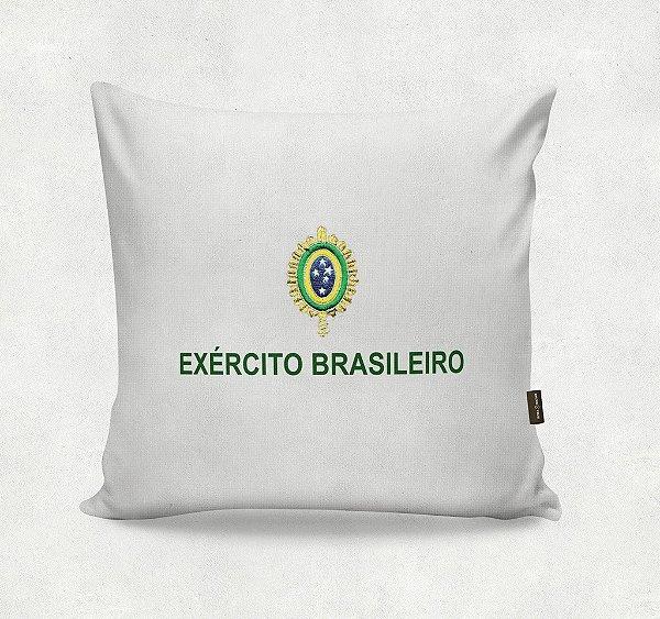 Almofada Bordada - Exército Brasileiro  Branca