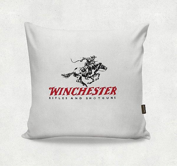 Almofada Bordada - Winchester Branca