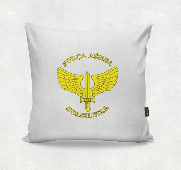 Almofada Bordada - Força Aérea  Branca