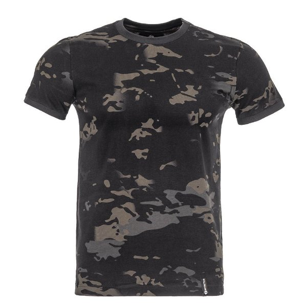 T-Shirt Tech Camuflado Multicam Black