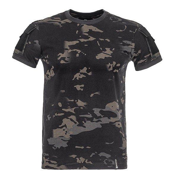 T-Shirt Army Camuflado Multicam Black
