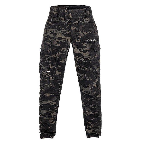 Calça Combat Camuflado Multicam Black