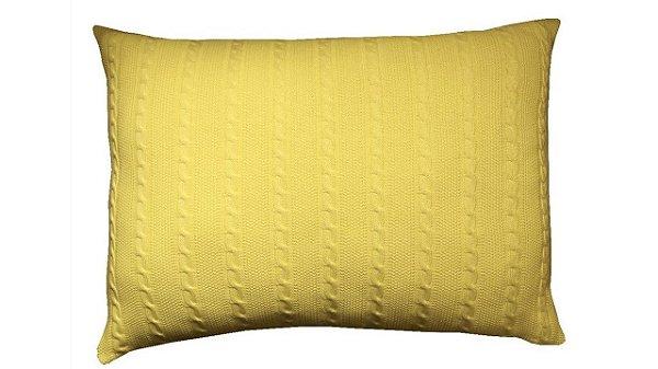 Porta Travesseiro M Trança Amarelo