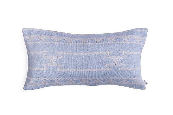 Almofada Cabeceira de Berço - Étnica Azul e Cinza