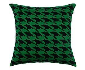 Almofada Pied Poule Preto e Verde