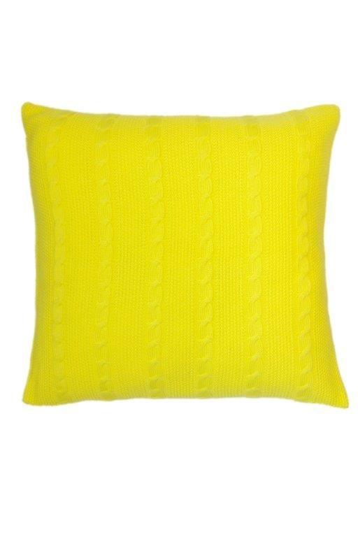 Almofada Tranças Amarelo Neon