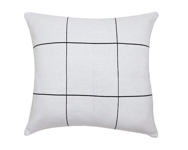 Almofada Quadriculado Branco e Preto