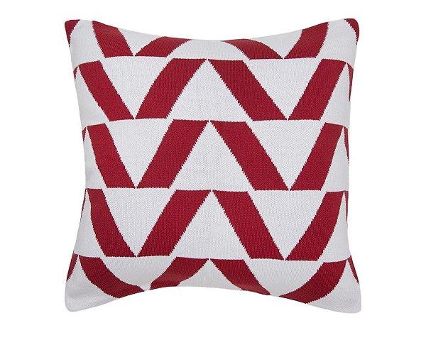 Almofada Piramide Branco e Vermelho