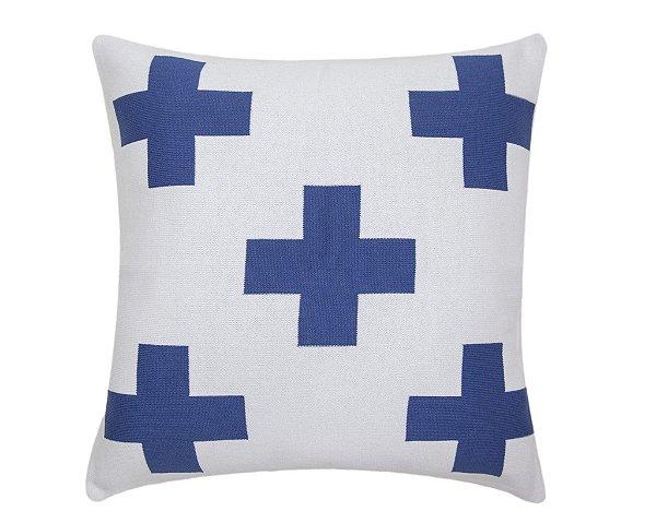 Almofada Maxi Cruz Branco e Azul