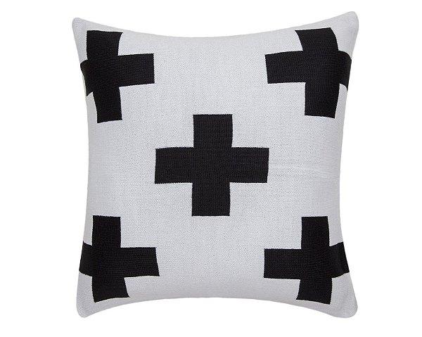 Almofada Maxi Cruz Branco e Preto