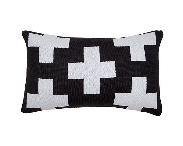 Almofada Rim Maxi Cruz Preto e Branco