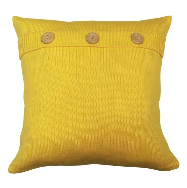 Almofada Botão Amarelo
