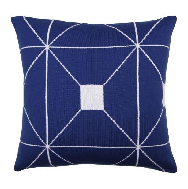 Almofada Jane Azul e Branco