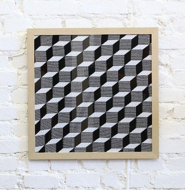 Quadro Cubos Preto e Branco