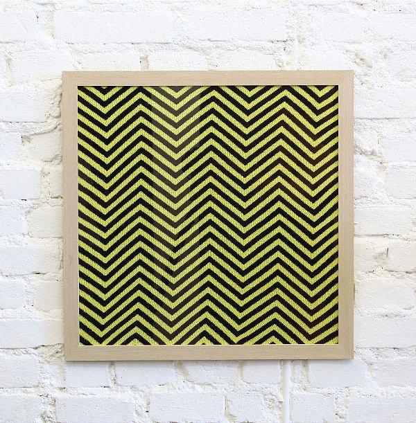 Quadro Zigzag Preto e Amarelo