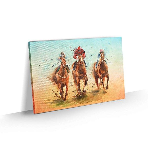 Quadro Cavalos Corrida Equitação Decorativo