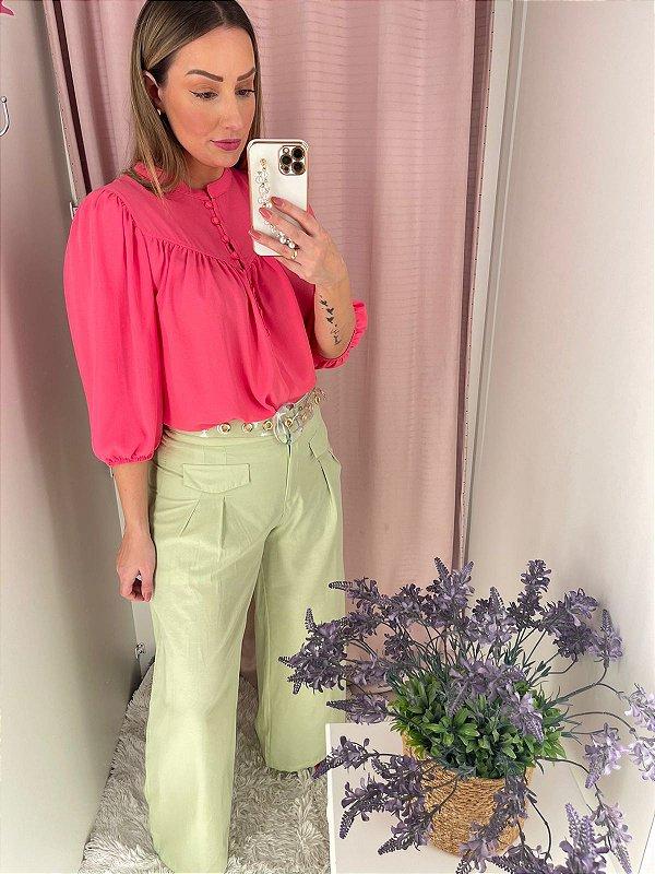 Calça Pantalona Júlia Verde Lima