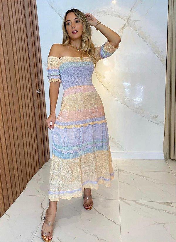 Vestido Modal Midi Candy Colors.