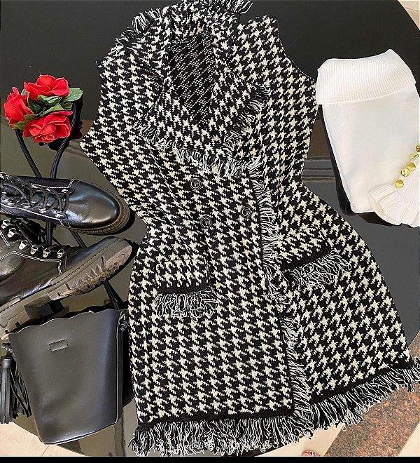 Colete Tweed Pied Poul