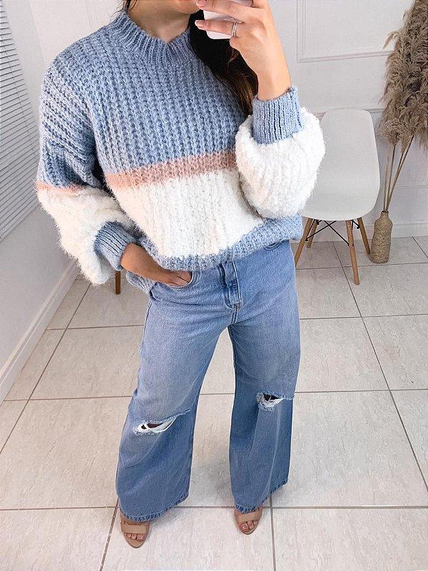 Calça Pantalona Jeans Bruna