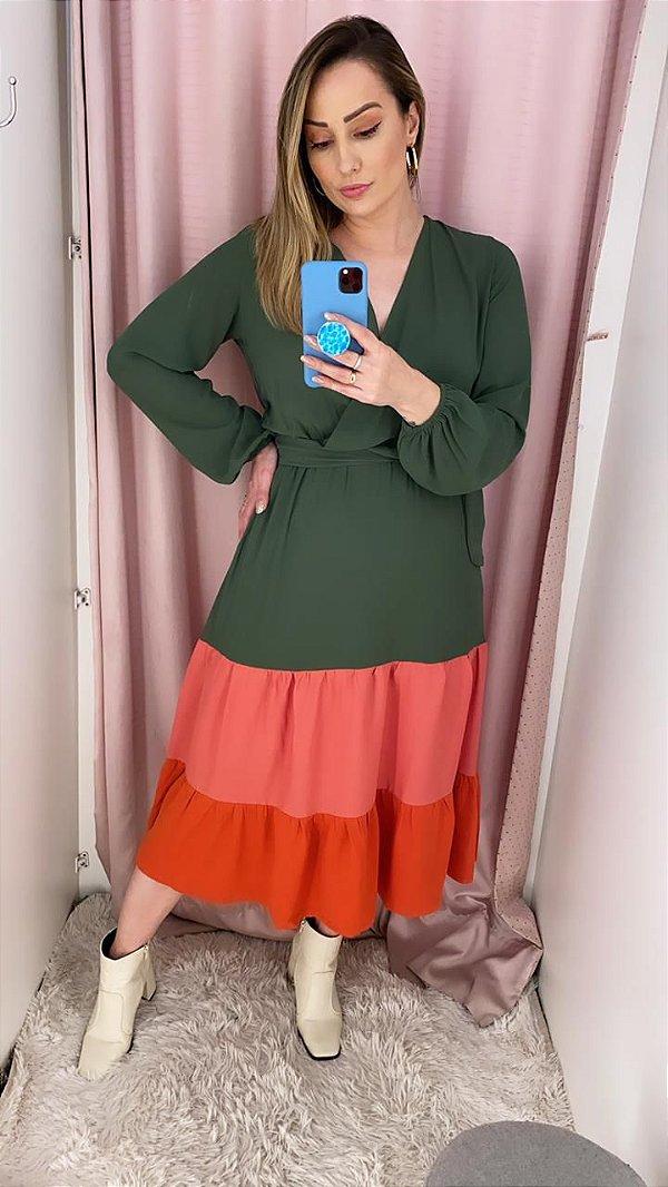 Vestido Midi Color Camila
