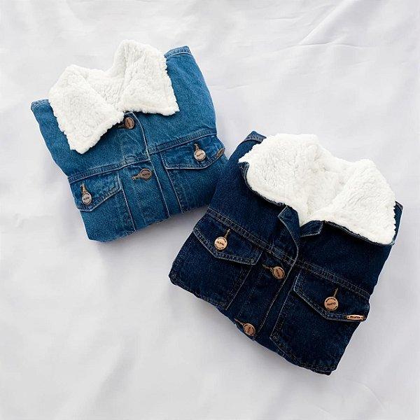 Jaqueta Jeans Forrada Com Pelo Sarah