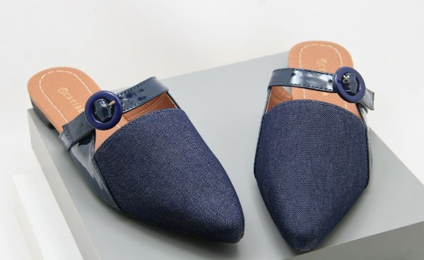 Mule Fivela - Blue Jeans