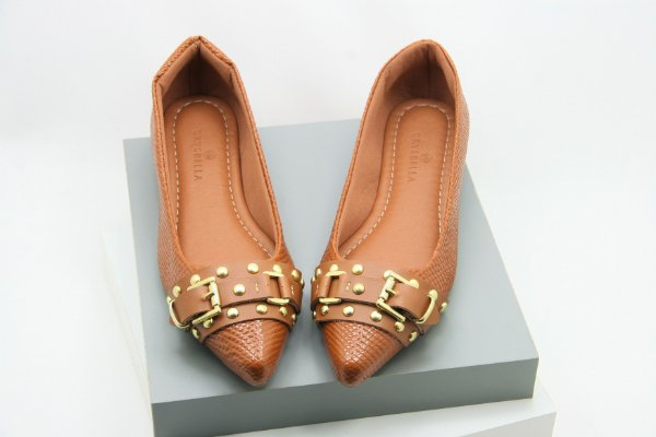 Pointed Buckle - Caramelo