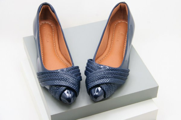 Pointed Wave - Croco Navy