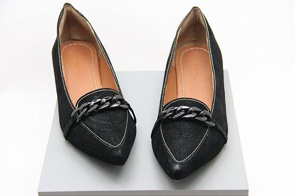 Mocassim Correntes - Black Velvet