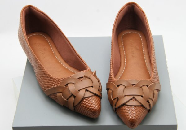 POINTED ELOS - CROCO CARAMELO