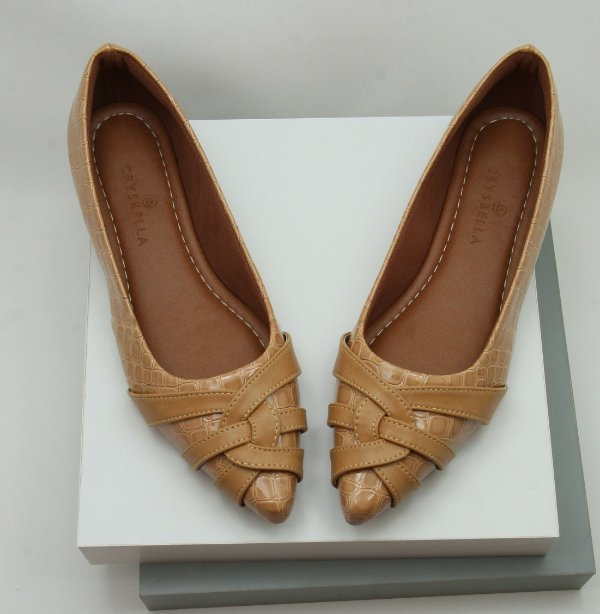 POINTED CURVY - CARAMELO