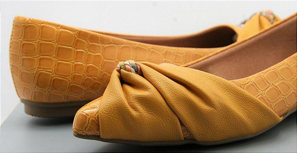 Pointed Half Lace - Croco Mostarda
