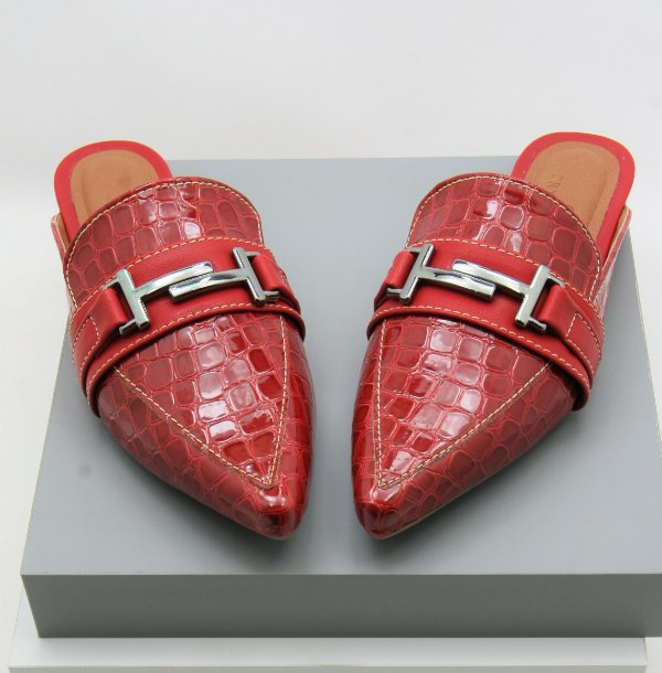 Mule Gucci Inspired - Croco Red
