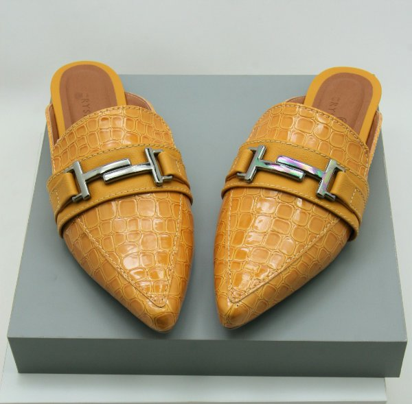 Mule Gucci Inspired - Croco Mostarda