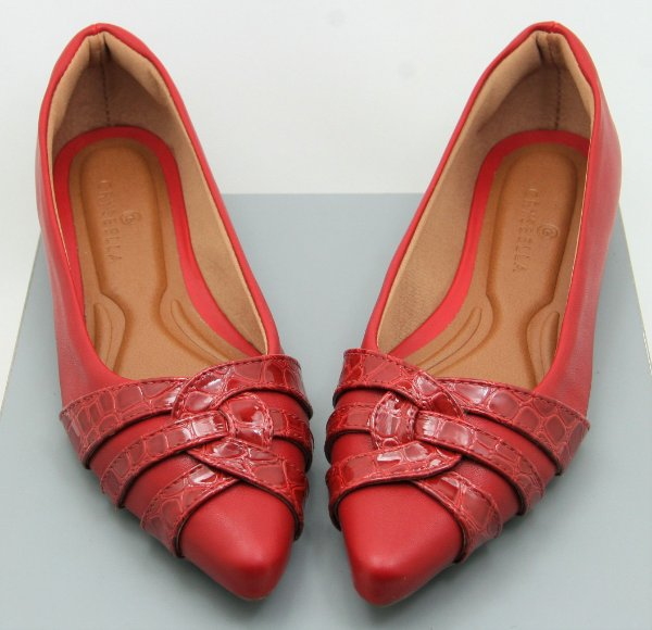 POINTED CURVY - RED CROCO