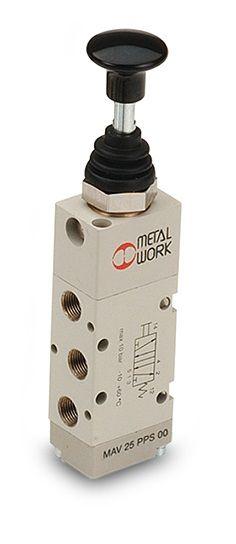 Válvula Direcional Série 70 Botão/Alavanca Metal Work