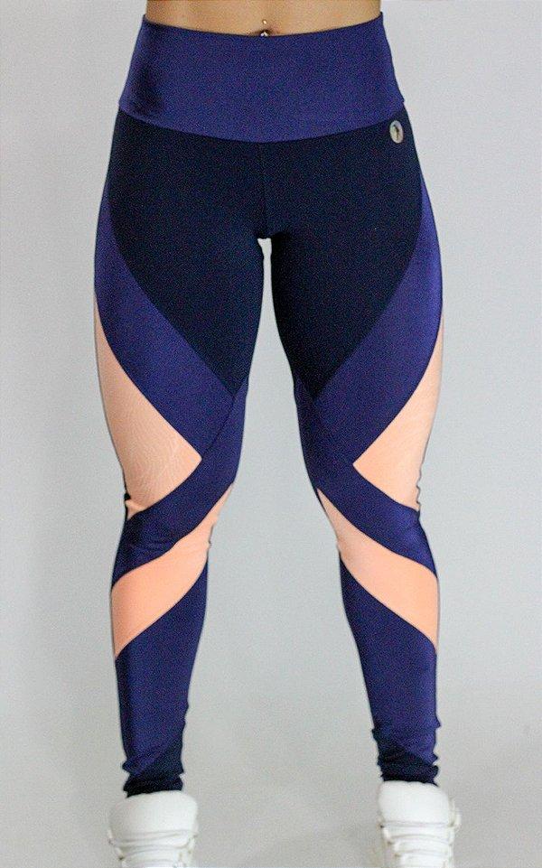 Legging Beca Azul Laranja