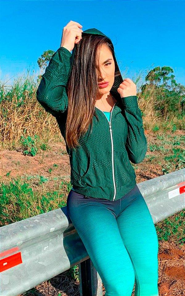 Jaqueta Dryfit Verde Uv Protection