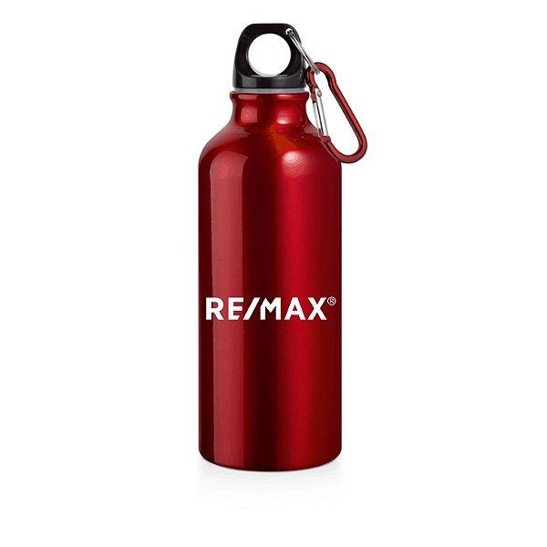 Squeeze alumínio com mosquetão 500ml vermelho - 94623 - COM NOME INDIVIDUAL