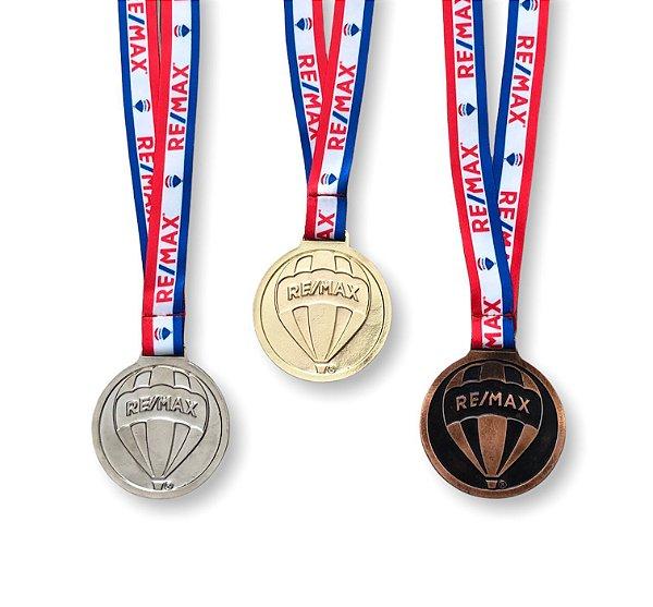 Medalha em metal fundido com fita REMAX