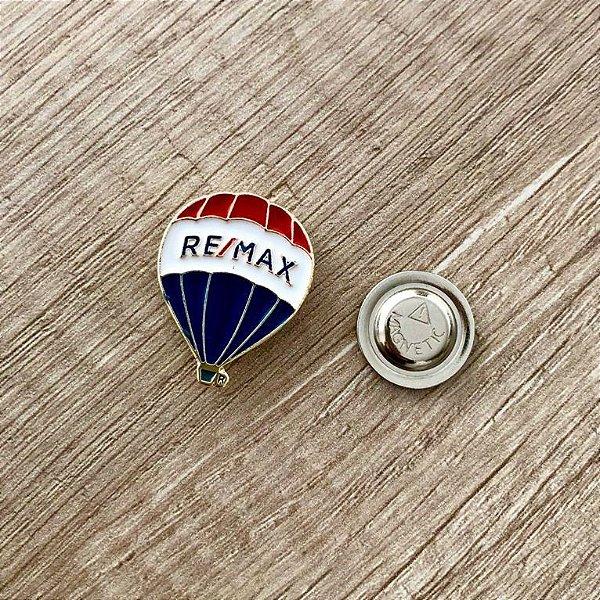 Pin em metal balão remax ( dourado ) - IMÃ NEODÍMIO EXTRA FORTE