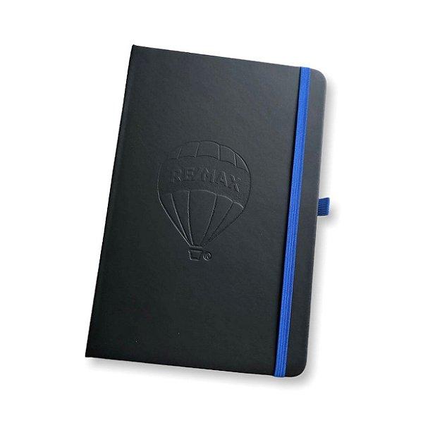 Caderno A5 em sintético com capa dura. 80 folhas pautadas 21X14cm REMAX baixo relevo - 93717