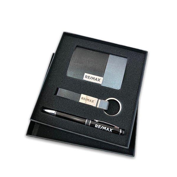 Kit porta cartão, caneta e chaveiro com caixa RE/MAX - 93315