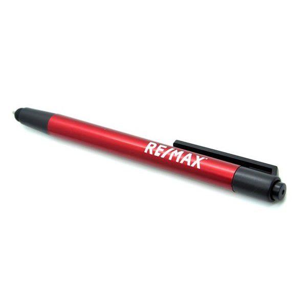 Caneta em Alumínio vermelha com ponteira touch RE/MAX - 91476