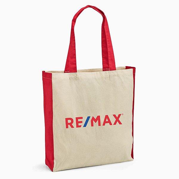 Sacola 100% algodão 140g/m² 37x41x10cm RE/MAX - 92879