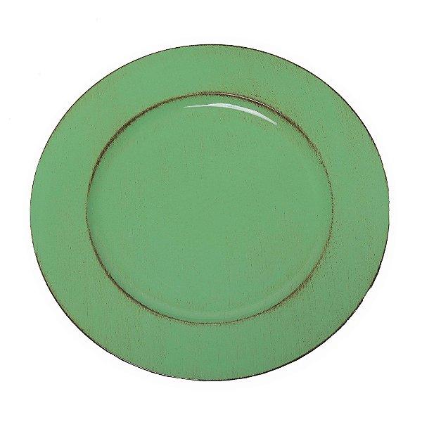 Sousplat Pincelado Verde