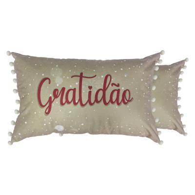 Capa Para Almofada Natalina Gratidão