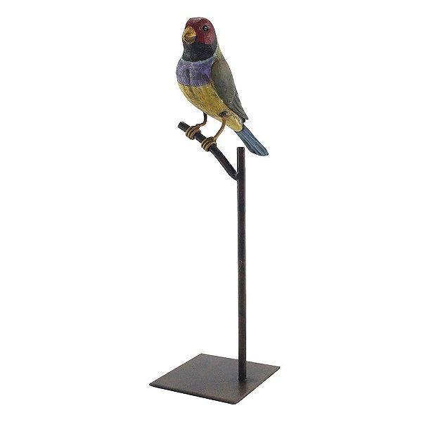 Escultura de Pássaro Colorfull Bird II