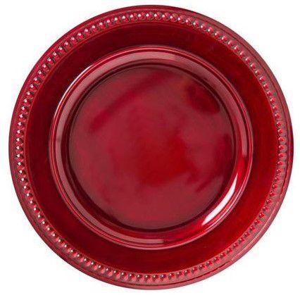 Sousplat Pearl Rouge Antique
